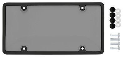 $7.90 • Buy Car Clear Tinted Smoked Tag License Plate Shield Cover & Frame