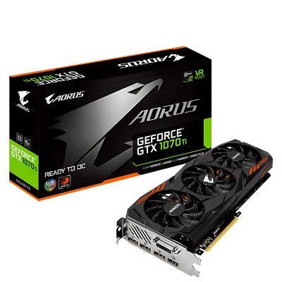 $ CDN991.25 • Buy Gigabyte GeForce GTX 1070 Ti Aorus 8GB GDDR5 GV-N107TAORUS-8GD Video Card HDMI