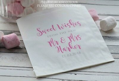 £6.25 • Buy Personalised Wedding Favour Bags Sweet Wishes From New Mr & Mrs