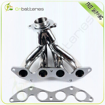 $48.79 • Buy Stainless Race Manifold Header FOR Honda Civic EX 01-05 1.7L SOHC D17 D17A2
