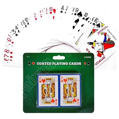 2 Packs Of Playing Cards Coated Kids Children Snap Deck Kings Queens Ace • 2.19£
