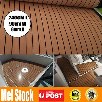 AU71.99 • Buy 240cmx90cm Marine Flooring Faux Teak EVA Foam Boat Yacht Decking Sheet Brown AU