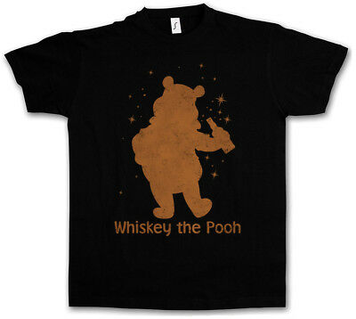 Whiskey The Pooh T-Shirt Fun Alcohol Drunk Wasted Intoxicated Drunken Hangover • 17.99£