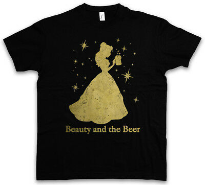 Beauty And The Beer T-Shirt Fun Alcohol Drunk Intoxicated Party Drunken Hangover • 17.99£
