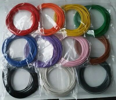 110m Solid Core 1/0.6mm Equipment Hookup Wire 10m*11 Colours, Breadboard Arduino • 17.95£