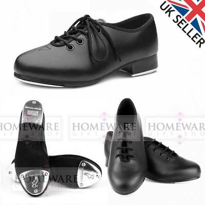 Bloch Black Economy Student Dance Jazz Tap Shoes Ladies Girls Boys Lace Up New • 29.99£