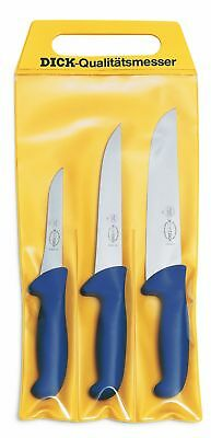 AU78.76 • Buy F. Dick (8255300) Set Of 3 Ergogrip Butcher Knives In Pouch