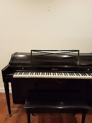 $650 • Buy Baldwin Acrosonic Piano Ebony Piano In Perfect Condition-w Matching Bench.GREAT!