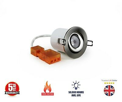 £8.49 • Buy 10w Led Tilt Dimmable Fire Rated Downlight 4000k Cool White Recessed Ceiling