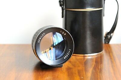 AU129.95 • Buy UPSILON 135mm F/2.8 For Pentax M42 Screw Mount  W/ Leather Case  - Made In Jap@@