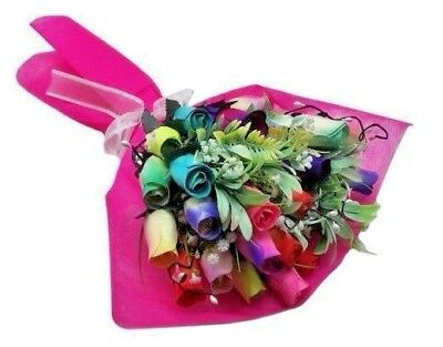 Deluxe Wooden Roses Bouquet - Rainbow Mix  • 11.99£