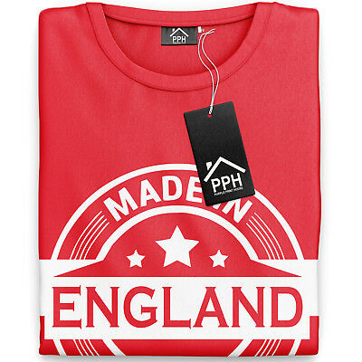 Made In England T Shirt St Georges Day TShirt English Rugby T-Shirt Flag 870 • 9.95£