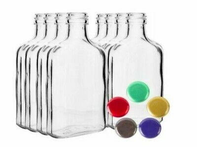 £9.99 • Buy GLASS Bottles 100ml, 200ml - Choice Color Screw Caps Home Brew Fast P&P UK