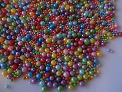 £5.15 • Buy Edible Rainbow Bubbles Pearls 100s Mix Cupcake Sprinkles Cake Toppers Decoration