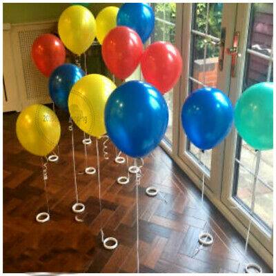 £2.99 • Buy Plain Balloons Plastic Bangles Baloon Weight New Party Birthday Ribbon All Pack