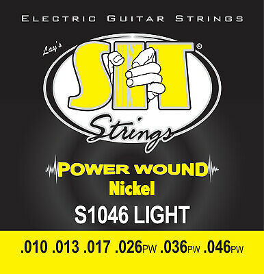 $ CDN18.18 • Buy SIT Strings Power Wound Nickel S1046 Electric Guitar Strings Light 10 - 46
