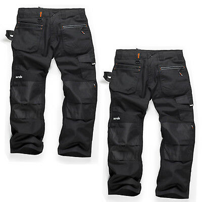 Scruffs RIPSTOP TWIN PACK Men's Multi-Pocket Work Trousers Black (Various Sizes) • 53.95£