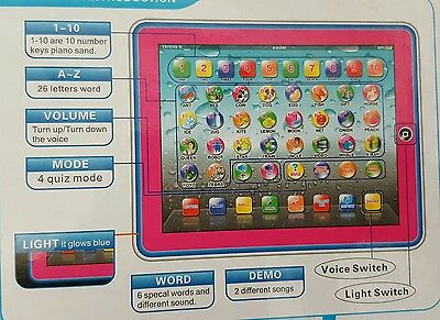 £6.99 • Buy  First Educational Tablet Ipad Laptop Computer Toddler Child Kids Learning Toy