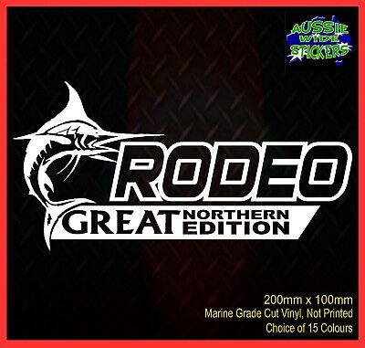 AU6.90 • Buy RODEO 4x4 Stickers Accessories Ute Car MX Funny Decal GREAT NORTHERN 200mm