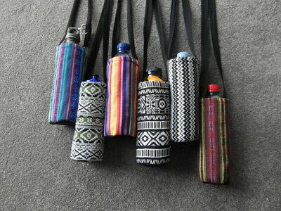 AU10.95 • Buy Fairtrade Cotton Water Drink Bottle Shoulder Sling Bag Sports - Choose Colour