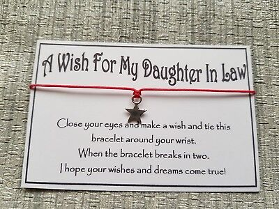 Daughter In Law Wish * Wish Bracelet * Friendship * Gift * Favour *  • 1.50£
