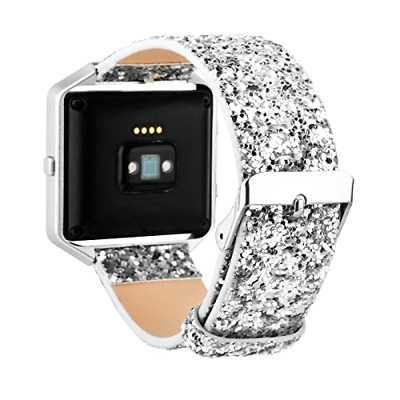 $ CDN28.42 • Buy Leather Flash Glitter Bling Replacement Band Strap For Fitbit Blaze Smart Watch