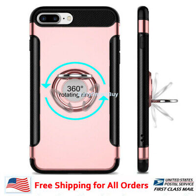 AU11.58 • Buy IPhone 7,7plus ,8, 8 Plus Shockproof Hybrid Phone Case Cover With Ring Kickstand