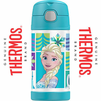 AU26.90 • Buy Thermos 355ml FUNtainer Insulated Bottle & Straw Stainless Vacuum -Disney Frozen