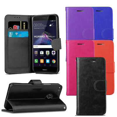 £3.79 • Buy For Huawei P8 Lite 2017 Case - Premium Leather Wallet Flip Case Magnetic Cover