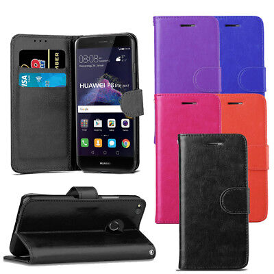 For Huawei P8 Lite 2017 Case - Premium Leather Wallet Flip Case Magnetic Cover  • 3.59£