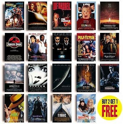 CLASSIC 90s MOVIE POSTERS A4 Size Photo Print Film Cinema Wall Decor Fan Art • 3.50£