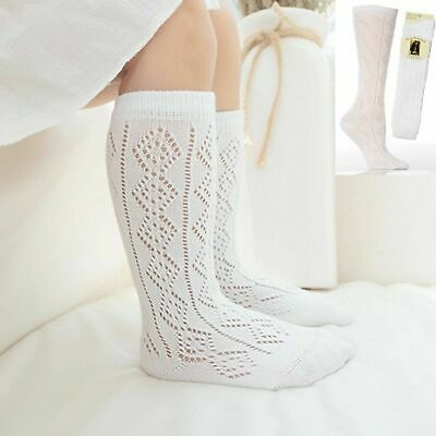 New 1-3 Pairs Girls White Pelerines Socks Long Back To School Knee High Pelerine • 3.97£