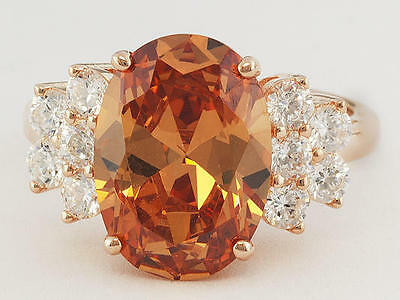 $53.10 • Buy Size 7- Charles Winston 7.5ct Champagne & White Dia 18k Rose Gold/Sterling Ring