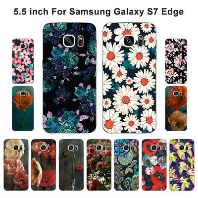 $ CDN3.93 • Buy Soft TPU Silicone Case For Samsung Galaxy S7 Edge Phone Back Cover Skins Floral