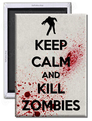 £1.99 • Buy Keep Calm And Kill Zombies (Blood) Fridge Magnet