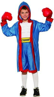 £35.77 • Buy Boxer Boy Fighter Sports Champ Fancy Dress Up Halloween Deluxe Child Costume