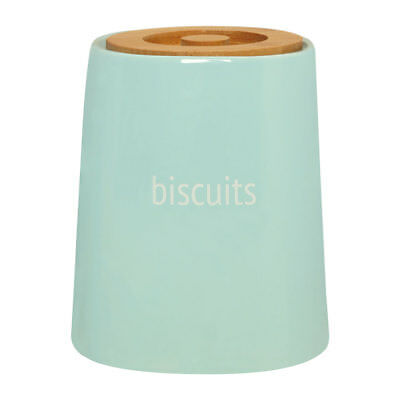 £22.99 • Buy Premier Blue Ceramic Biscuit Cookie Jar Storage Pot Canister With Bamboo Lid