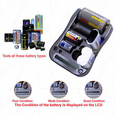 AU28.90 • Buy Universal Battery Tester For Testing CR2/CR123A/N/AAA/AA/C & D Batteries