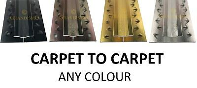 £6.99 • Buy Double Carpet To Carpet Door Strip - Any Colour Trim - Quality Metal Threshold