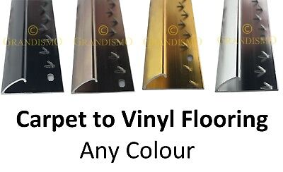 Carpet To Vinyl Flooring Door Strip - Any Colour Trim - Quality Metal Threshold • 6.99£