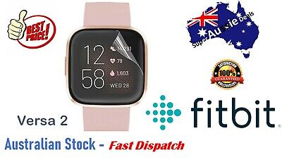 AU2.75 • Buy Clear Front Screen Protector Films Cover For Fitbit Versa 2 Charge 3