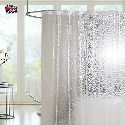 Large 3D Shower Curtain Clear Plastic EVA Diamond Water Cube Thicker Best • 6.99£