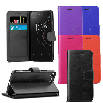 AU7.83 • Buy For Sony Xperia XZ1 Compact - Premium Leather Wallet Flip Case Cover