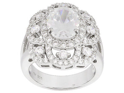 $59 • Buy Size 7 - Charles Winston For Bella Luce 6.98ctw Diamond Simulant Sterling Ring