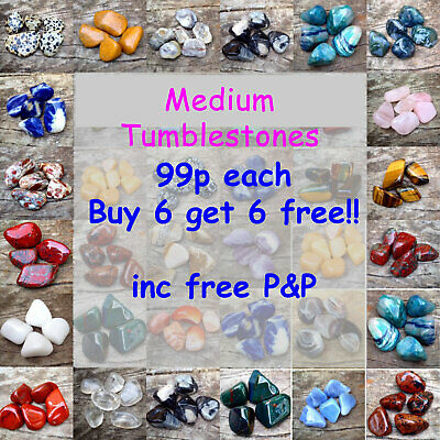 Healing Crystals 10 - 20mm  Tumblestone Crystals - Buy 6 Get 6 Free • 1.19£