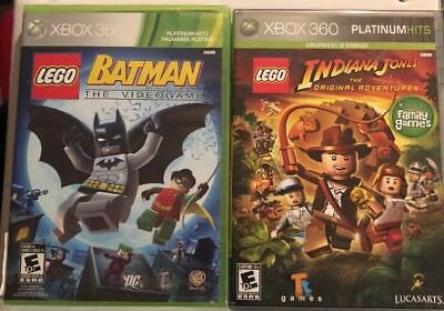 $ CDN27.22 • Buy Xbox 360 Lot  : Lego Indiana Jones & Lego Batman Lots Of Family Fun!! USA 🇺🇸