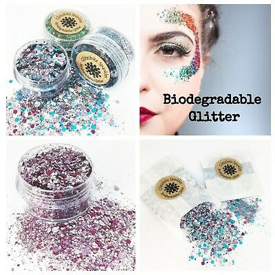 £2.95 • Buy Biodegradable Cosmetic Glitter Chunky Mix Festival Party Make Up Face Eco Body