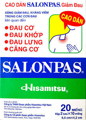 AU23.90 • Buy Salonpas Patch Hisamitsu Pain Relieving 10 Box 120 Patches - Free Fast Shipping