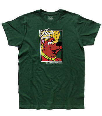 Men's T-Shirt Napo L'Bear Capo Hair Bear - Hanna Barbera Muttley Cartoons Ages • 16.47£