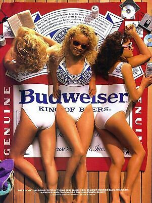 Budweiser Girls Retro Metal Wall Plaque Art Vintage Advertising Sign Man Cave • 4.99£